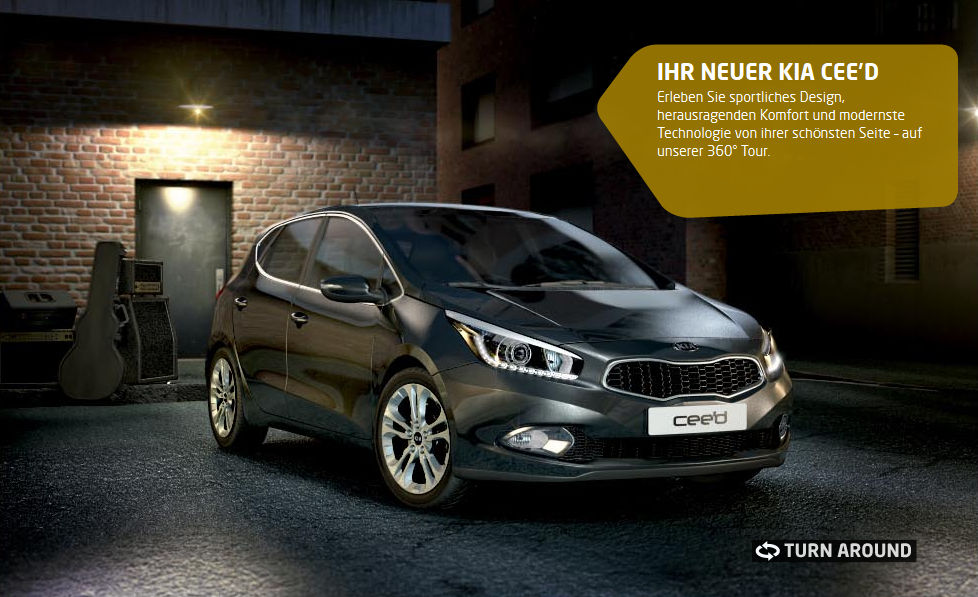 Screenshot: KIA CEE'D Microsite